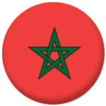Morocco Country Flag 58mm Mirror Keyring